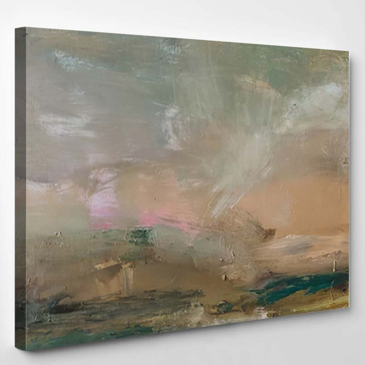 Abstract Oil Painting Background On Canvas 6 - Abstract Art Canvas Art Print