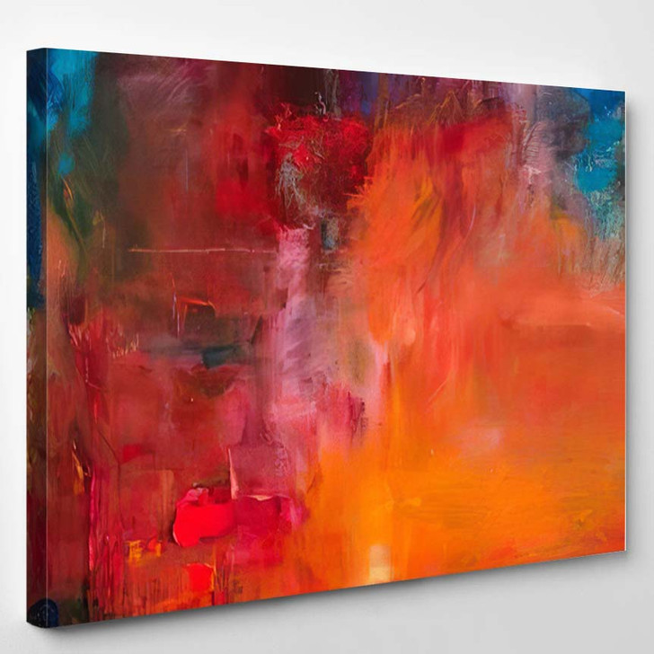 Abstract Oil Painting Background On Canvas 9 - Abstract Art Canvas Art Print
