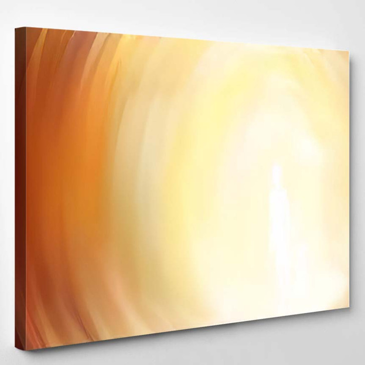 Abstract Oil Painting On Canvas Warm - Abstract Art Canvas Art Print