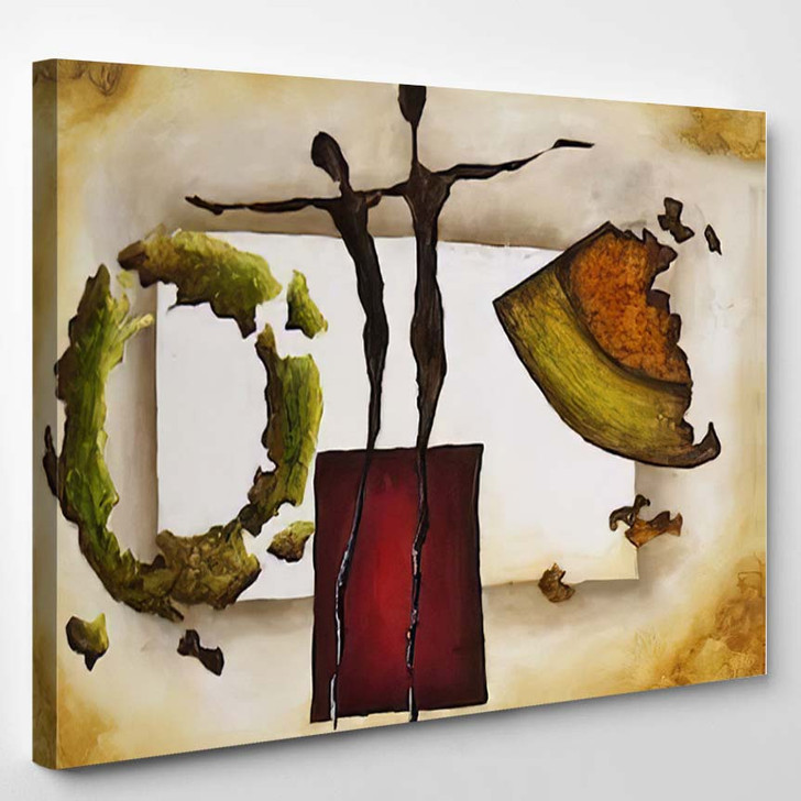 Abstract Painting Artwork On Canvas - Abstract Art Canvas Art Print