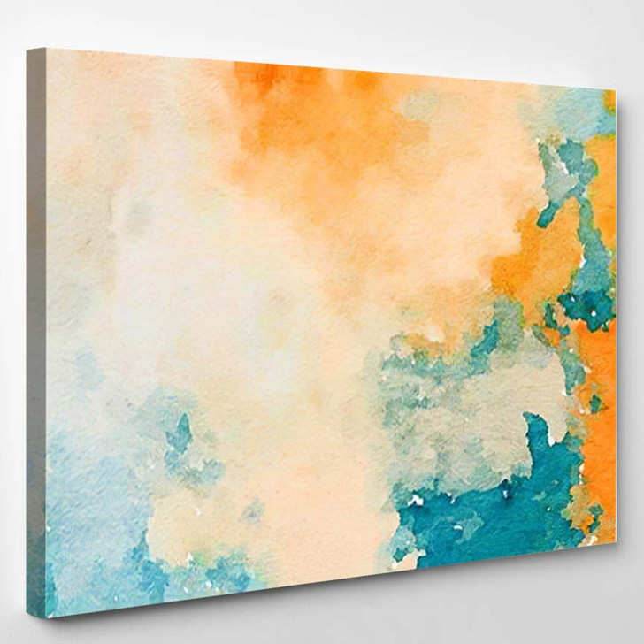 Abstract Stained Pattern Texture Square Background - Abstract Art Canvas Art Print