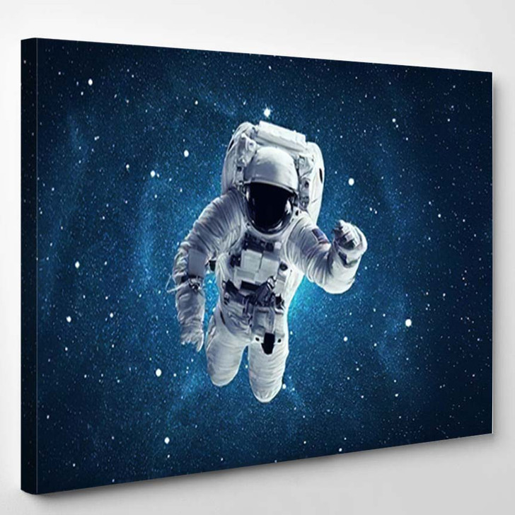 Astronaut Outer Space Elements This Image 1 - Astronaut Canvas Art Print