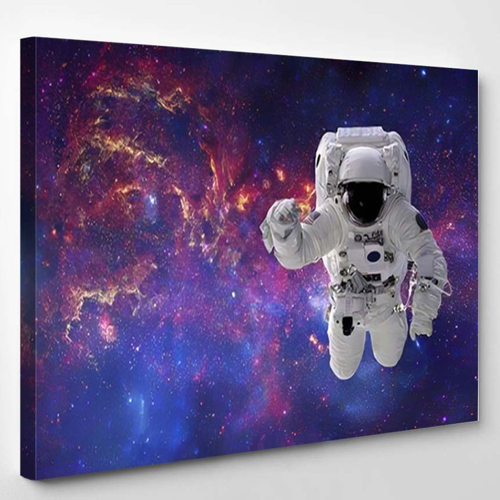 High Quality Isolated Composite Astronaut Space - Astronaut Canvas Art Print