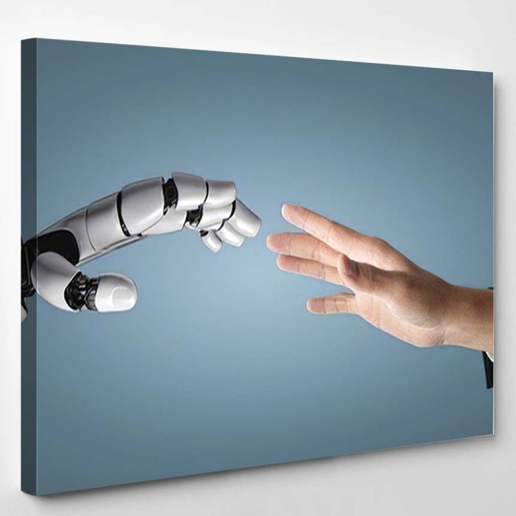 3D Rendering Artificial Intelligence Ai Research 10 - Creation of Adam Canvas Art Print