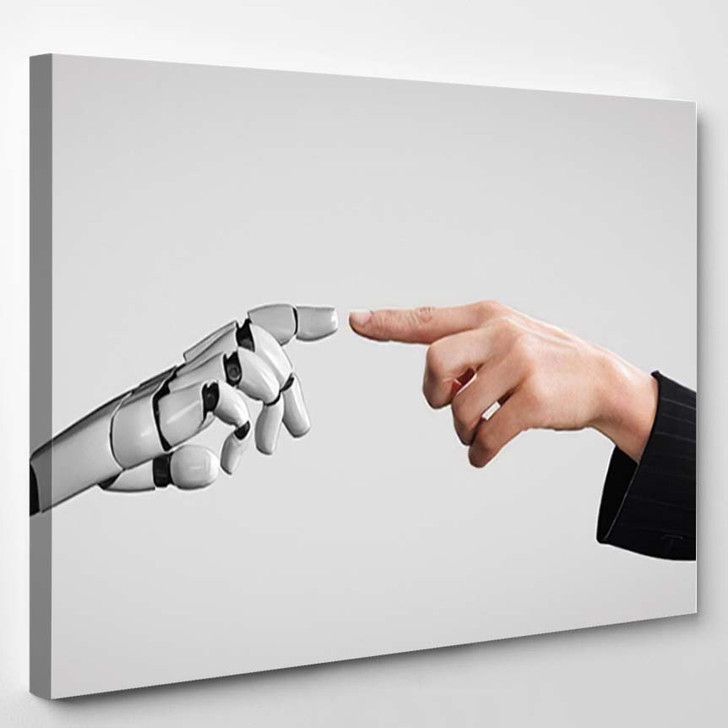 3D Rendering Artificial Intelligence Ai Research 14 - Creation of Adam Canvas Art Print