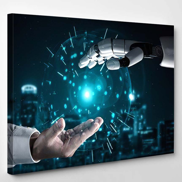 3D Rendering Artificial Intelligence Ai Research 16 - Creation of Adam Canvas Art Print