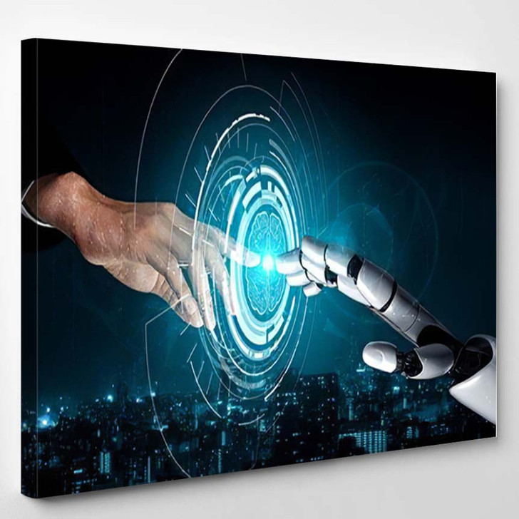 3D Rendering Artificial Intelligence Ai Research 17 - Creation of Adam Canvas Art Print