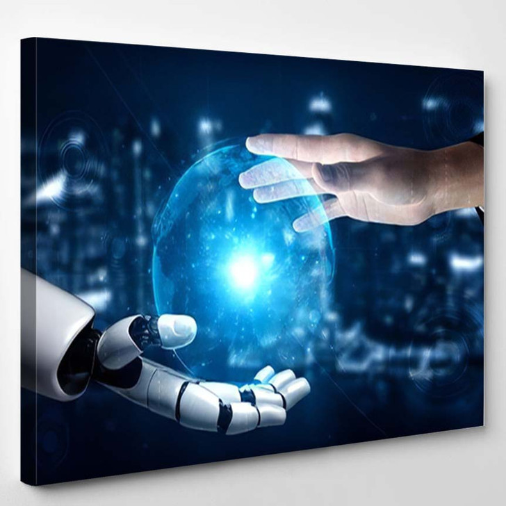 3D Rendering Artificial Intelligence Ai Research 18 - Creation of Adam Canvas Art Print