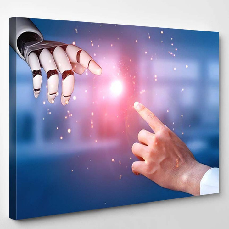 3D Rendering Artificial Intelligence Ai Research 21 - Creation of Adam Canvas Art Print