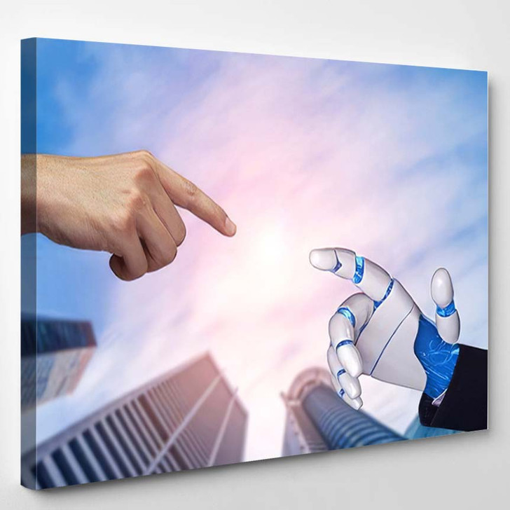 3D Rendering Artificial Intelligence Ai Research 22 - Creation of Adam Canvas Art Print