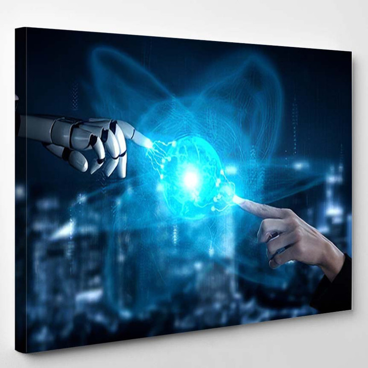 3D Rendering Artificial Intelligence Ai Research 24 - Creation of Adam Canvas Art Print