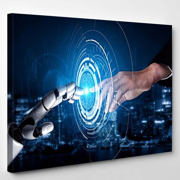 3D Rendering Artificial Intelligence Ai Research 26 - Creation of Adam Canvas Art Print