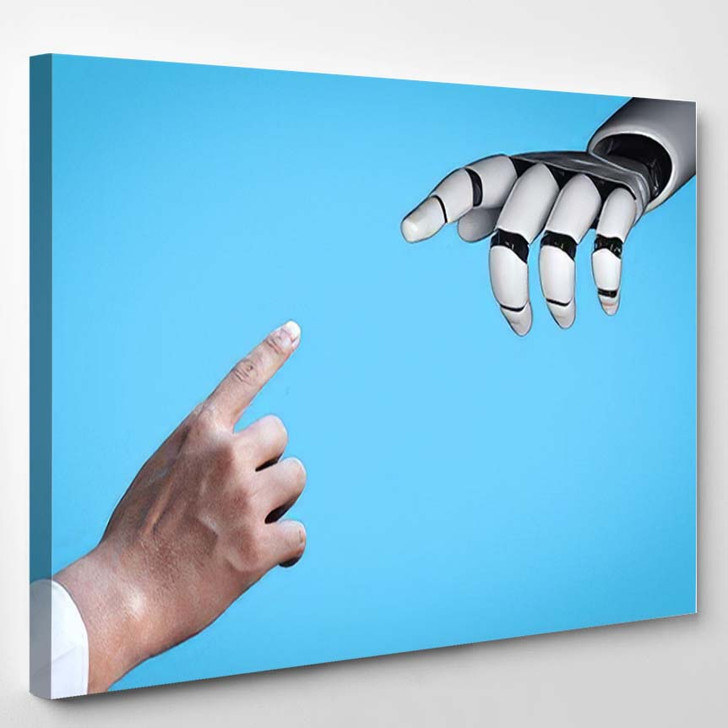3D Rendering Artificial Intelligence Ai Research 32 - Creation of Adam Canvas Art Print