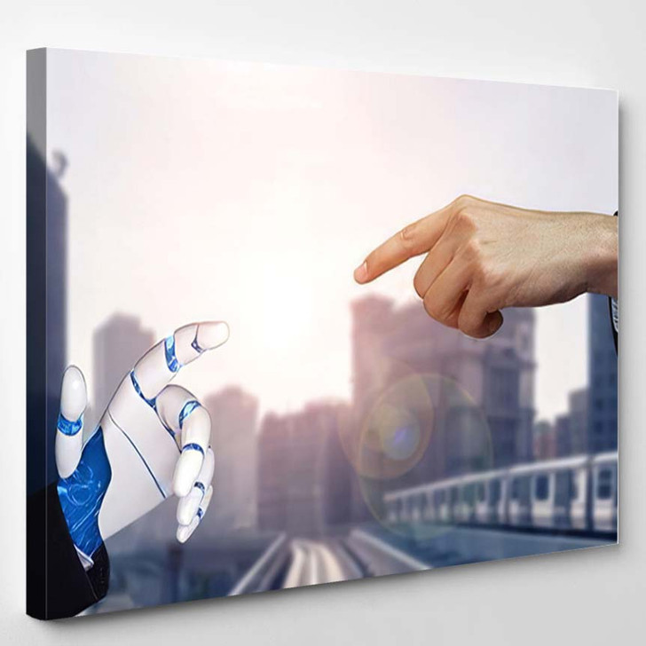3D Rendering Artificial Intelligence Ai Research 35 - Creation of Adam Canvas Art Print