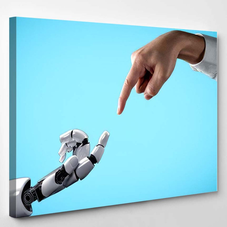 3D Rendering Artificial Intelligence Ai Research 40 - Creation of Adam Canvas Art Print
