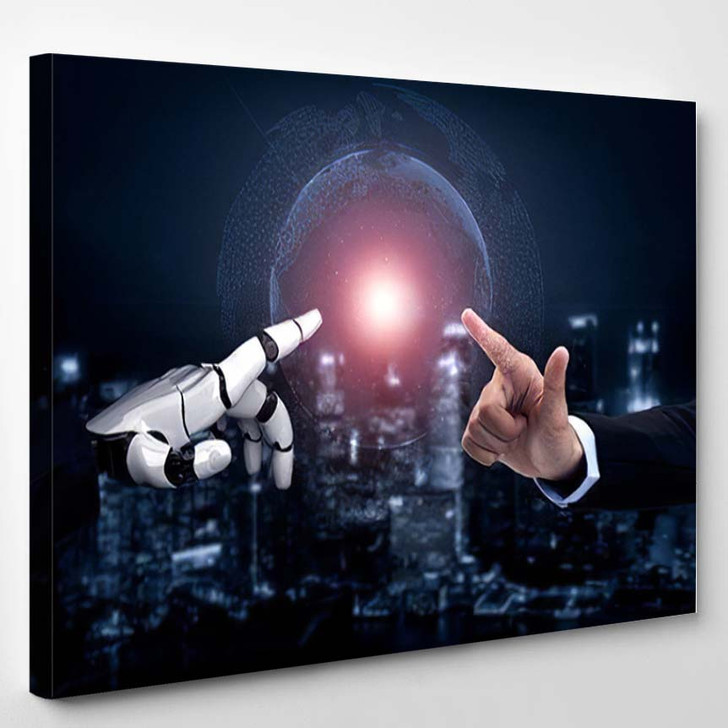 3D Rendering Artificial Intelligence Ai Research 45 - Creation of Adam Canvas Art Print