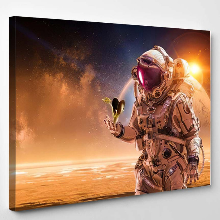 There Life On Other Planet Mixed - Astronaut Canvas Art Print