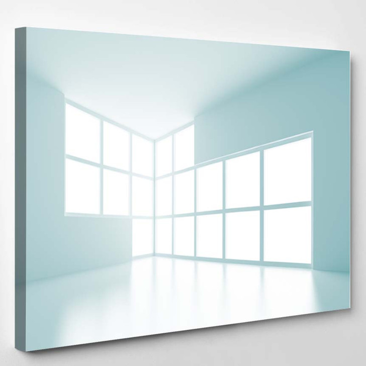 3D Modern Interior - Canvas Art Print