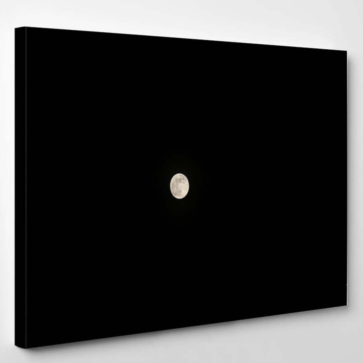 2019 Blue Moon Night Sky - Canvas Art Print