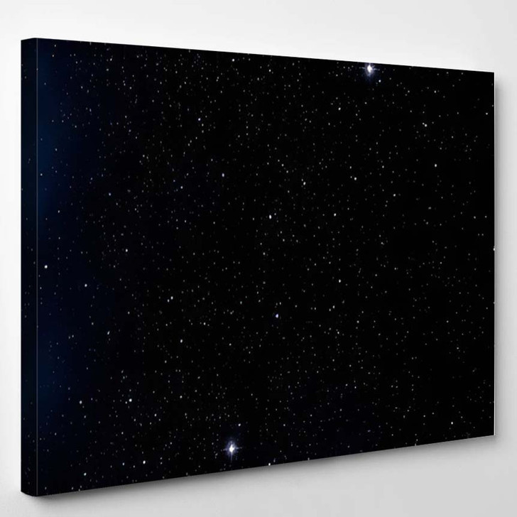 2D Illustration Deep Vast Space Stars 1 - Galaxy Sky and Space Canvas Art Print