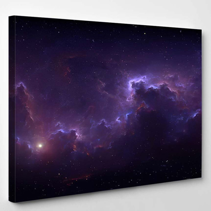 360 Degree Space Background Nebula Stars 2 - Galaxy Sky and Space Canvas Art Print