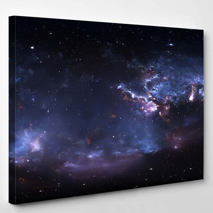 360 Degree Space Nebula Panorama Equirectangular 1 - Galaxy Sky and Space Canvas Art Print