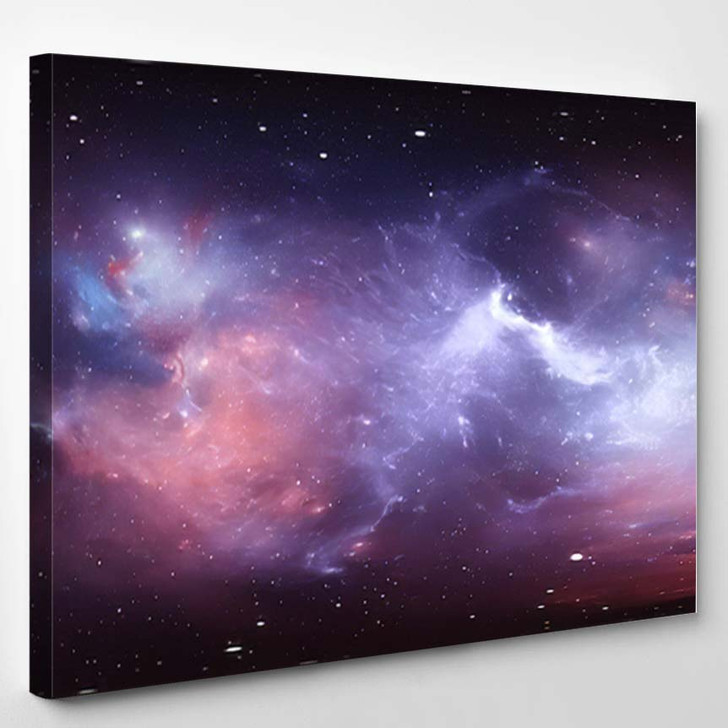 360 Degree Space Nebula Panorama Equirectangular 3 - Galaxy Sky and Space Canvas Art Print