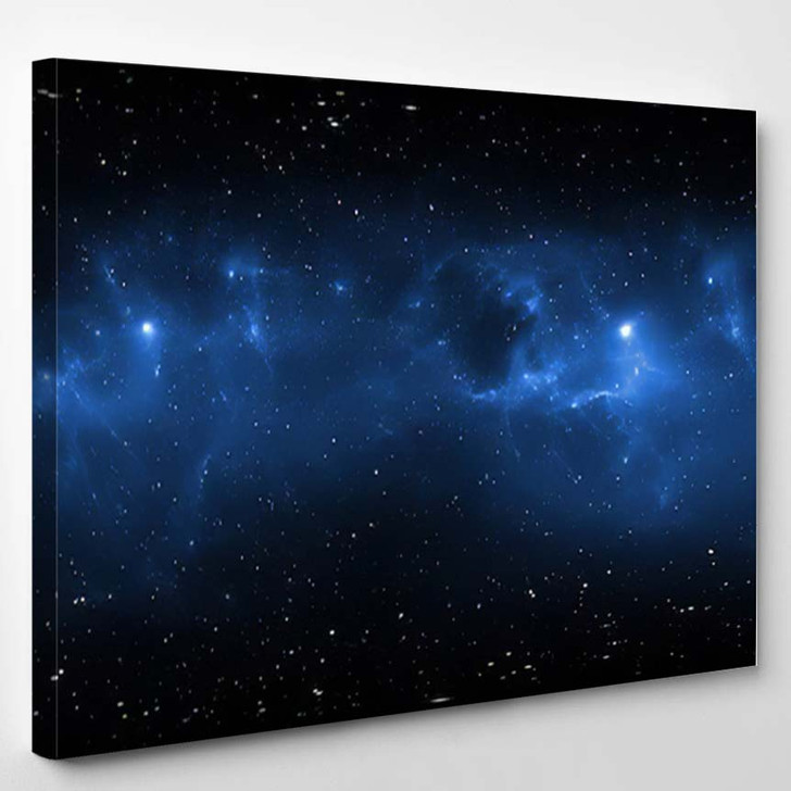 360 Degree Space Nebula Panorama Equirectangular 4 - Galaxy Sky and Space Canvas Art Print