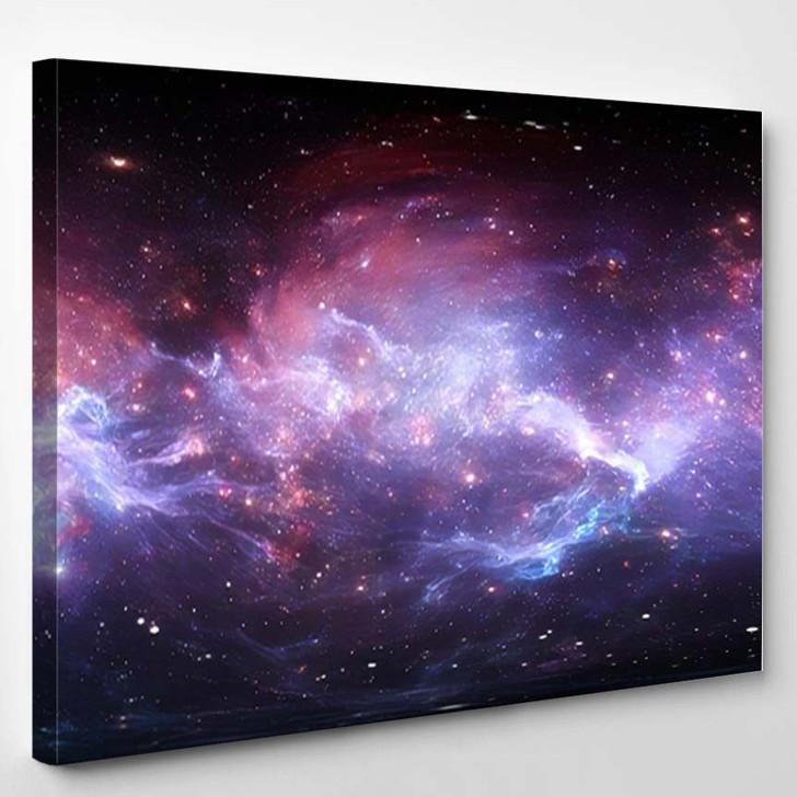360 Degree Space Nebula Panorama Equirectangular 5 - Galaxy Sky and Space Canvas Art Print