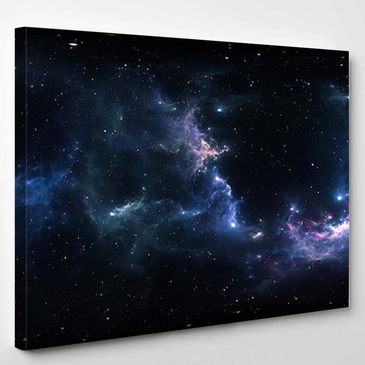 360 Degree Space Nebula Panorama Equirectangular 6 - Galaxy Sky and Space Canvas Art Print