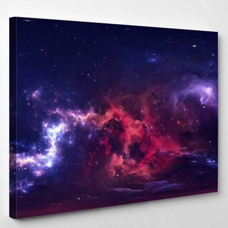 360 Degree Space Nebula Panorama Equirectangular 7 - Galaxy Sky and Space Canvas Art Print
