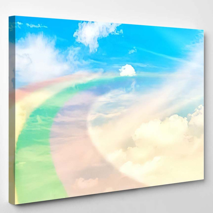 3D Illustration Fantastic Sky 1 - Galaxy Sky and Space Canvas Art Print