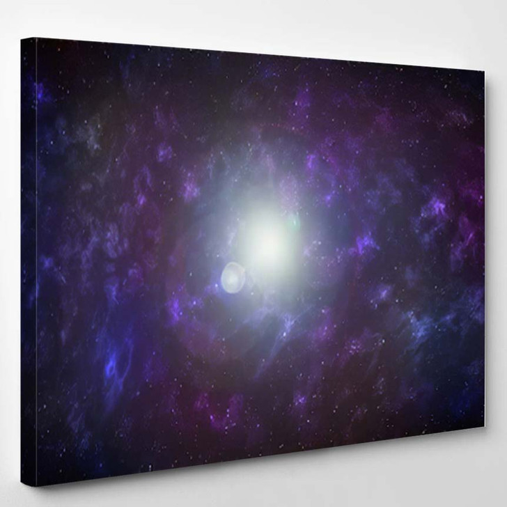 3D Illustration Planets Galaxy Science Fiction 5 - Galaxy Sky and Space Canvas Art Print