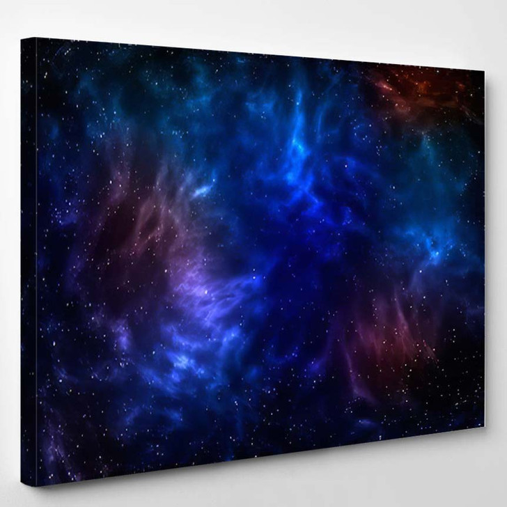 3D Illustration Planets Galaxy Science Fiction 7 - Galaxy Sky and Space Canvas Art Print