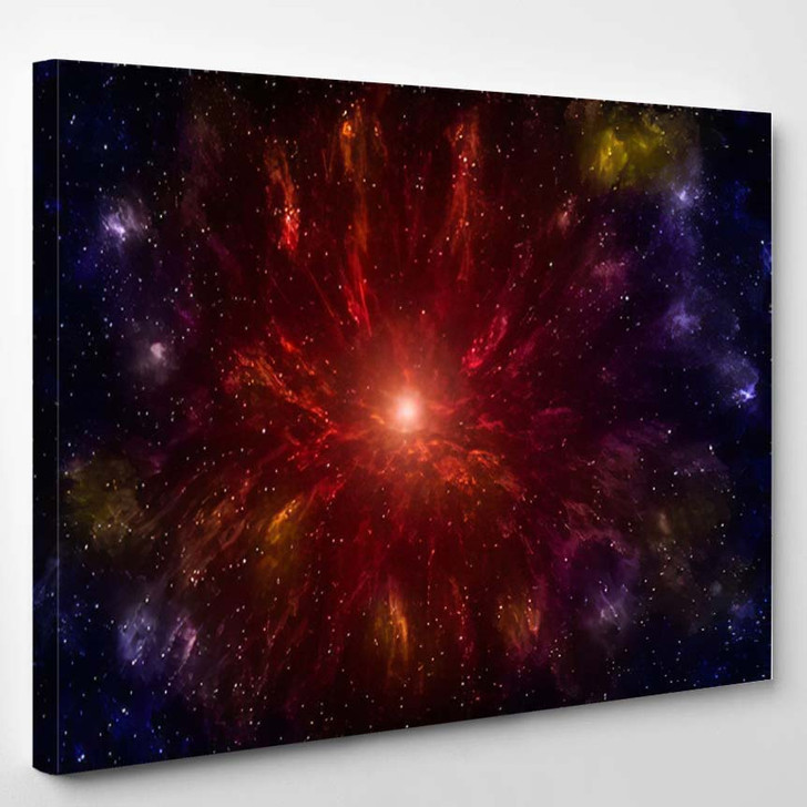 3D Illustration Planets Galaxy Science Fiction 9 - Galaxy Sky and Space Canvas Art Print