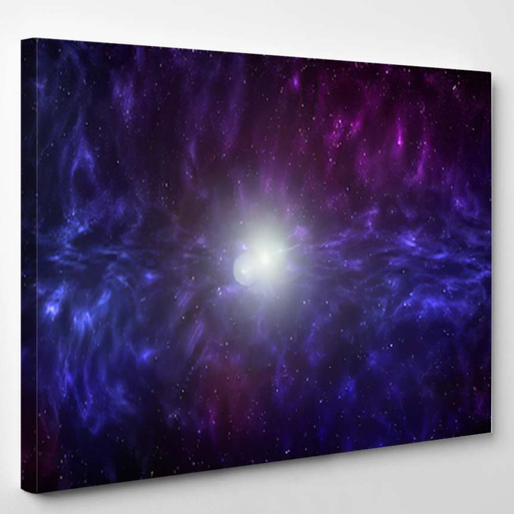3D Illustration Planets Galaxy Science Fiction 10 - Galaxy Sky and Space Canvas Art Print