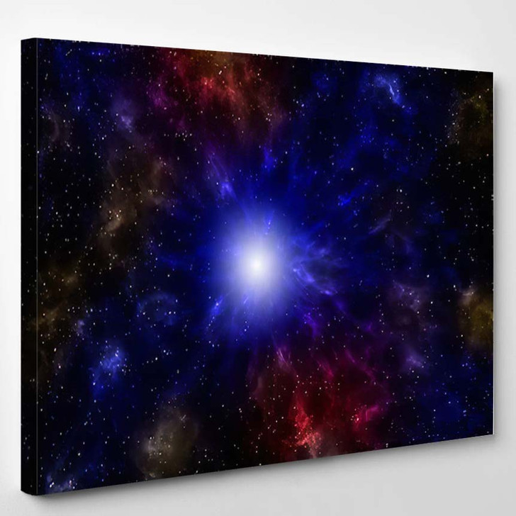 3D Illustration Planets Galaxy Science Fiction 11 - Galaxy Sky and Space Canvas Art Print