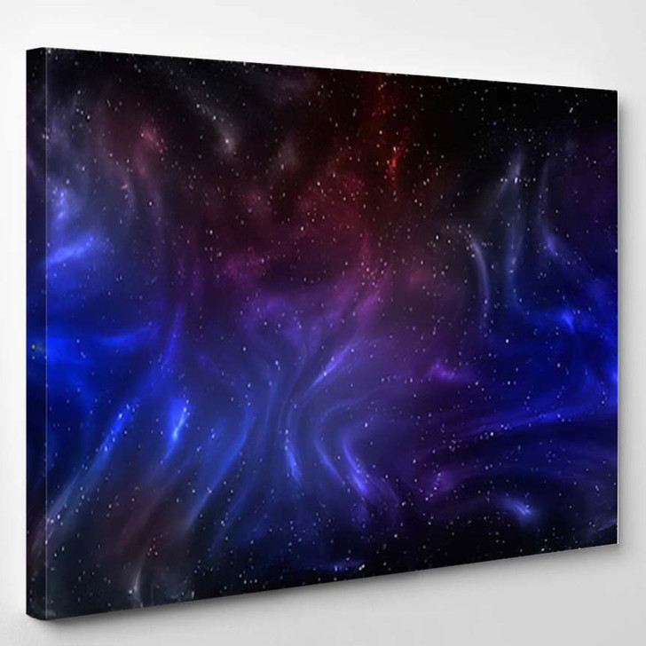 3D Illustration Planets Galaxy Science Fiction 12 - Galaxy Sky and Space Canvas Art Print