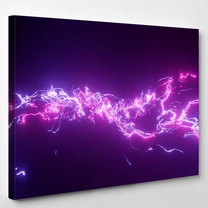 3D Rendering Fantastic Background Bright Glowing 2 - Galaxy Sky and Space Canvas Art Print