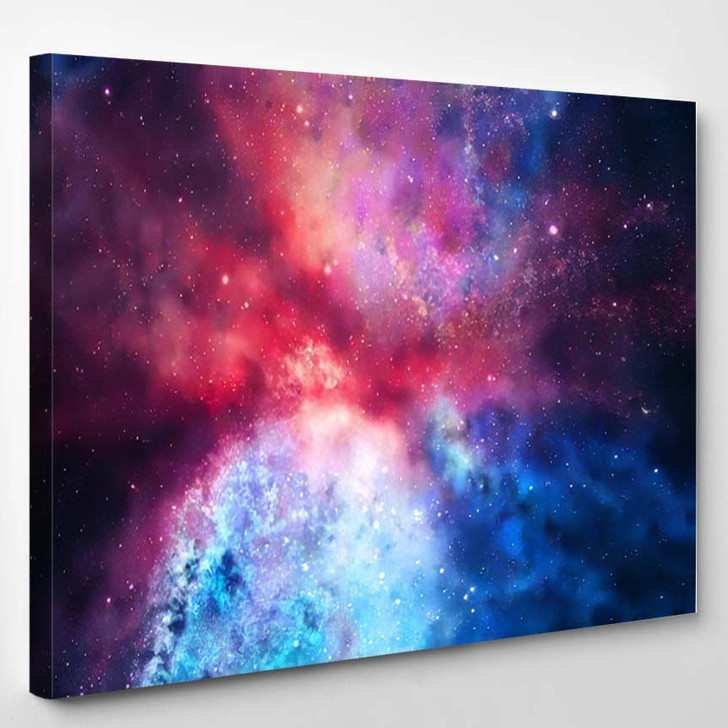 3D Rendering Galaxy Space Beauty Universe 1 - Galaxy Sky and Space Canvas Art Print