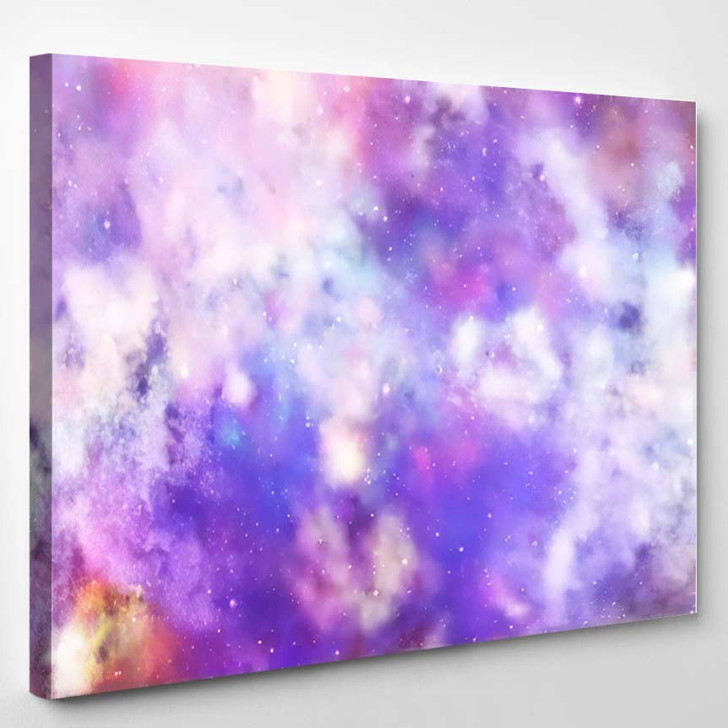 3D Rendering Galaxy Space Beauty Universe 4 - Galaxy Sky and Space Canvas Art Print