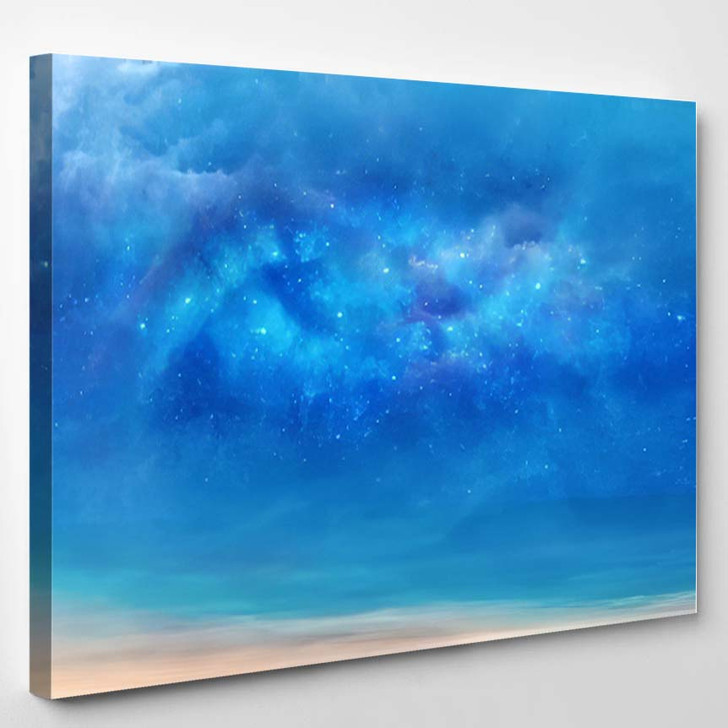 Abstract Artistic Colorful Nebula Galaxy Background - Galaxy Sky and Space Canvas Art Print