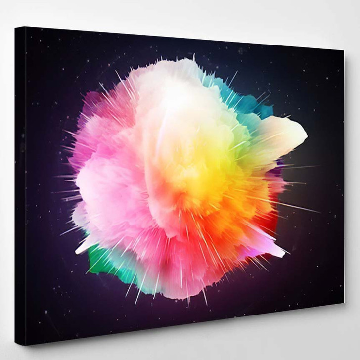 Abstract Background Big Bang Theory Explosion - Galaxy Sky and Space Canvas Art Print
