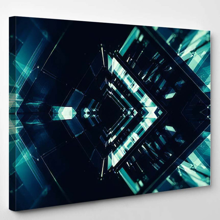 Abstract Background Futuristic Concept Space Technology - Galaxy Sky and Space Canvas Art Print