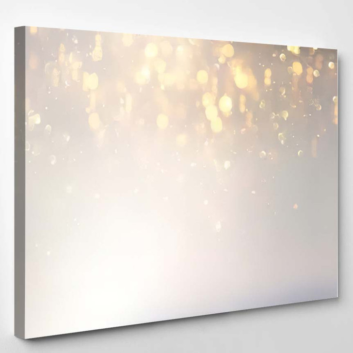 Abstract Background Glitter Vintage Lights Silver 2 1 - Galaxy Sky and Space Canvas Art Print