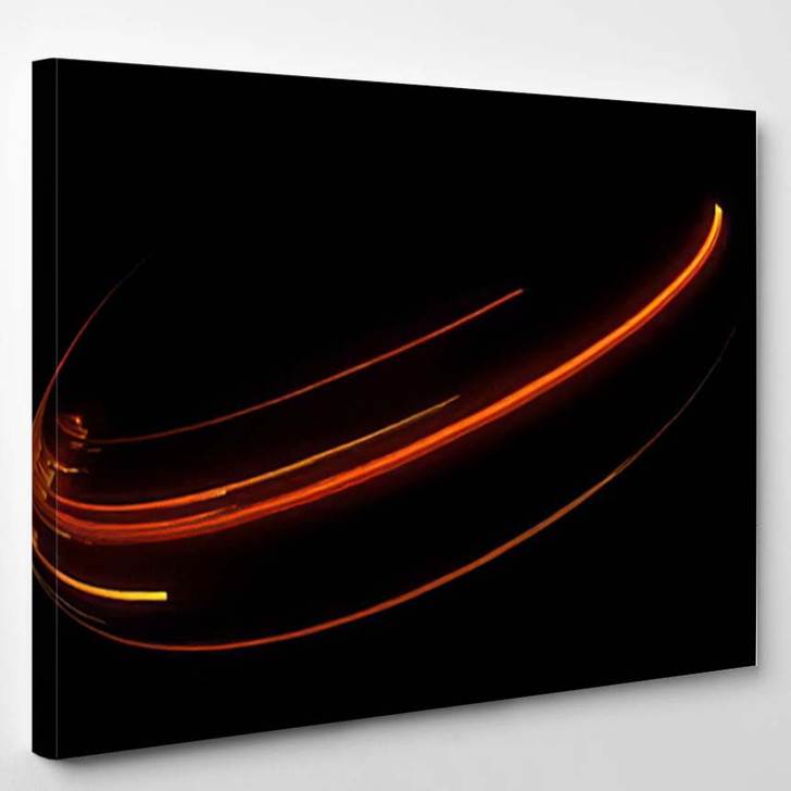 Abstract Background Luminous Swirling Elegant Glowing - Galaxy Sky and Space Canvas Art Print