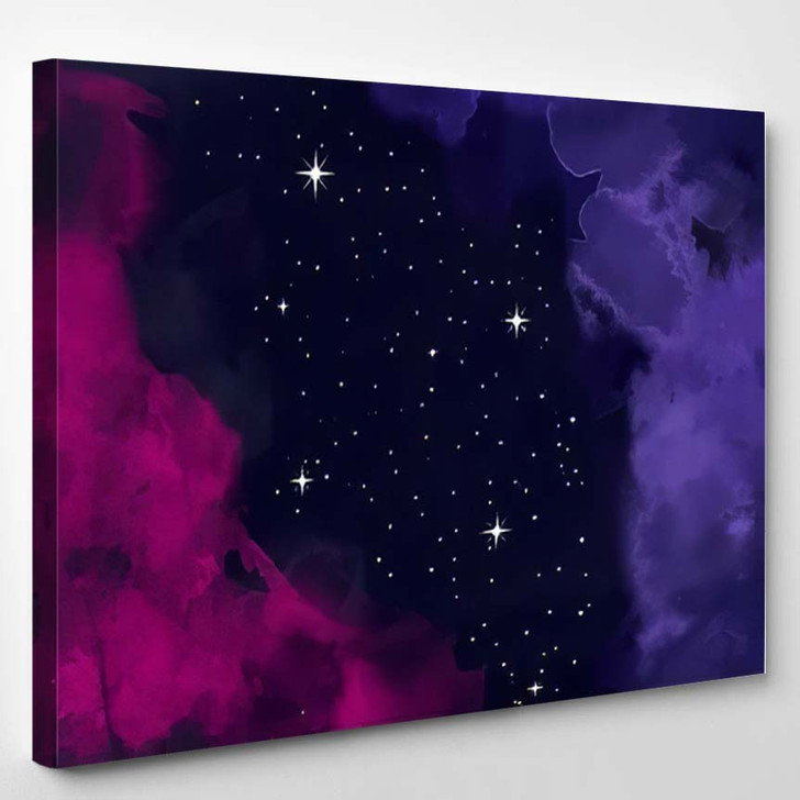 Abstract Background Star Galaxy Modern Art - Galaxy Sky and Space Canvas Art Print