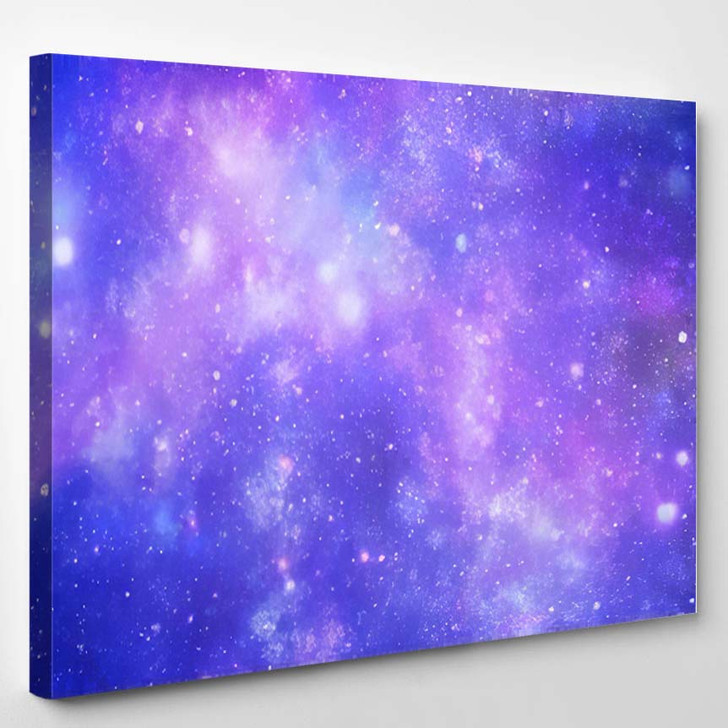 Abstract Background Universe - Galaxy Sky and Space Canvas Art Print