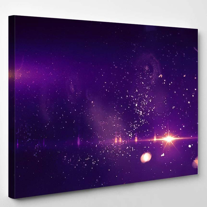 Abstract Backgrounds Space Neon Lights Super - Galaxy Sky and Space Canvas Art Print
