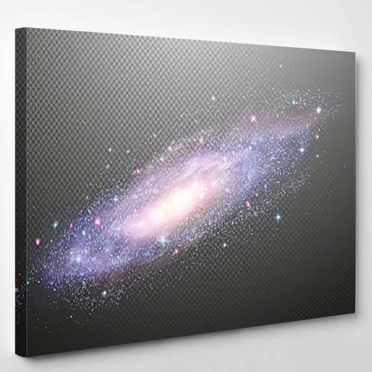 Abstract Barred Spiral Galaxy Outer Space 2 - Galaxy Sky and Space Canvas Art Print